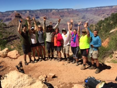 Power of Storytelling - Sara SchultingKranz and group at the Grand Canyon