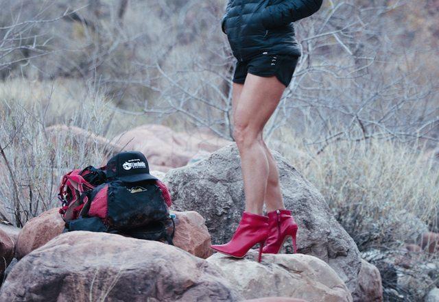 Sara Schulting Kranz in her red heels