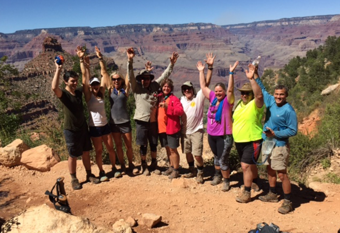 Live Boldly Coaching coed Grand Canyon trip
