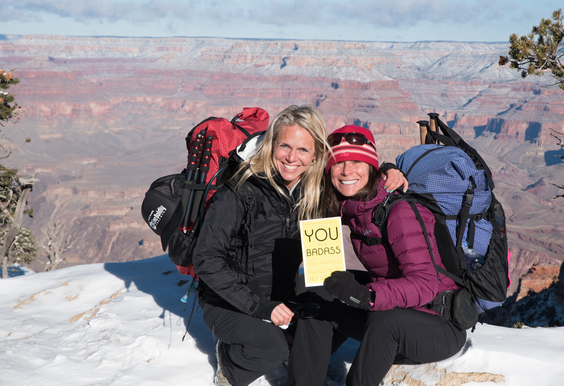 Sara Schulting Kranz with client at Grand Canyon