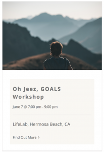 Oh Jeez Goals workshop by Live Boldly Coaching
