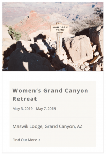 Live Boldly Grand Canyon Coaching January 2019