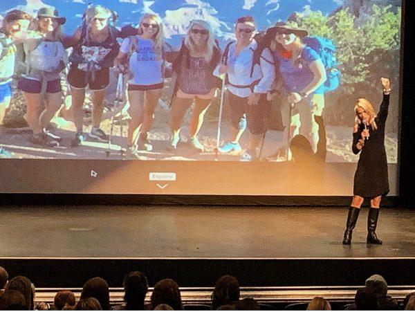 Sara Schulting Kranz speaking in Marquette, WI