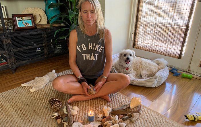 Sara Schulting Kranz meditating