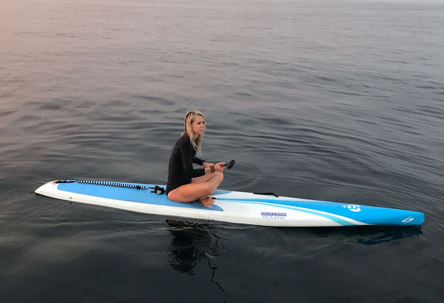 Sara Schulting Kranz on paddle board