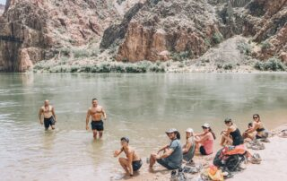 Group at the bottom of Grand Canyon
